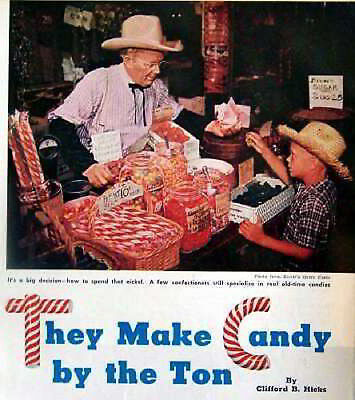 Brachs 1952 Master Candy Maker Otto Windt pictorial