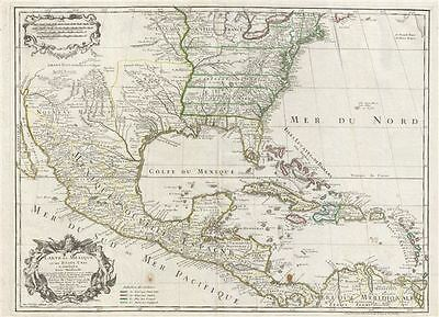 1783 De L'Isle Map of the United States, Mexico, and the West Indies