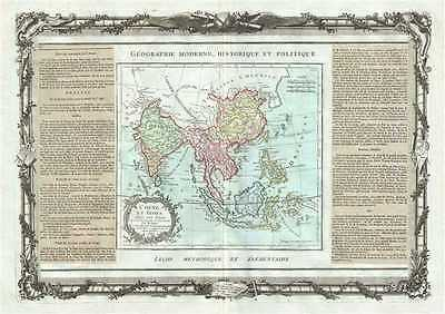 1786 Desnos and de la Tour Map of India, Southeast Asia, China and the East Indi