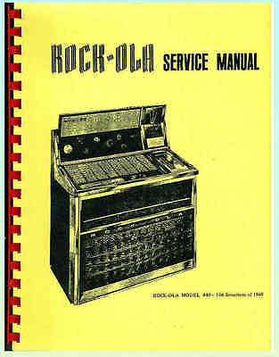 Rock-Ola 440 Jukebox Service Manual & Large Complete Schematic