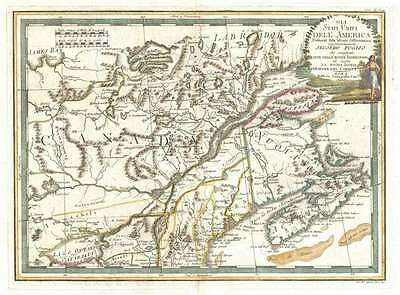 1797 Cassini Map of New England and Canada