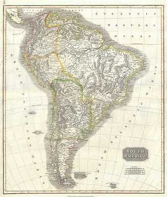 1817 Thomson Map of South America