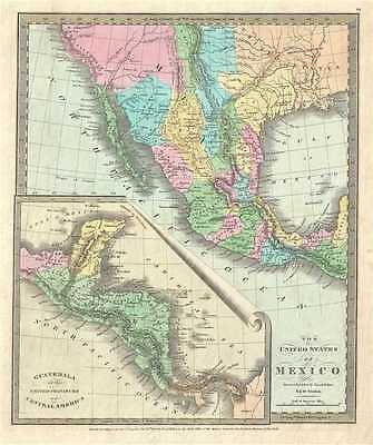 1832 Burr Map of Mexico