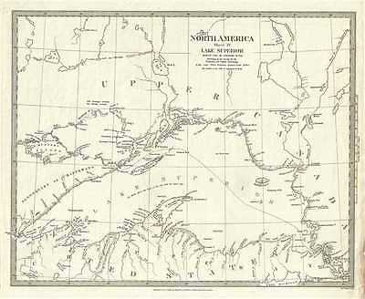 1832 S.D.U.K. Subscriber's Edition Map of Lake Superior