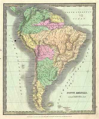 1833 Burr Map of South America