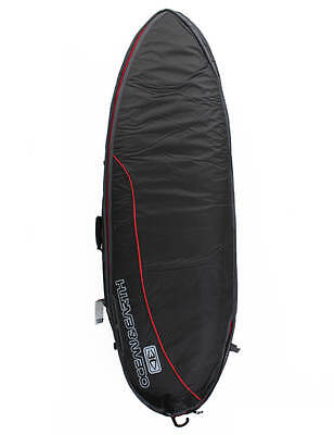 Ocean & Earth Fish Wide Double Surfboard Travel Bag 10mm 6ft 4 - Black/Red