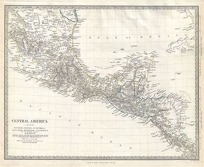 1842 S.D.U.K. Map of Central America