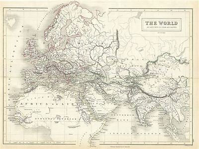 1844 Black Map of the Ancient World