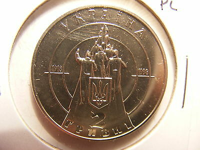 Ukraine 2 Hryvni, 1998, 80 Years of Nationhood, P/L Uncirculated