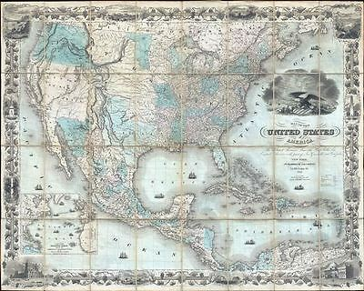 1849 Colton Case Map of the United States (Texas at Fullest) (First Edition) (Go