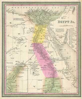 1849 Mitchell Map of Egypt, Africa