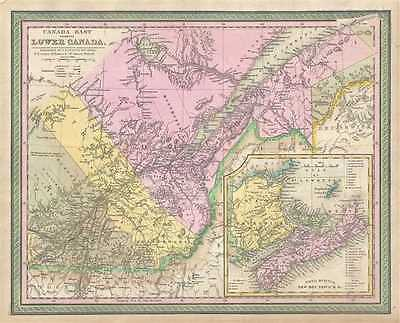 1849 Mitchell Map of Quebec, Lower Canada or Canada East