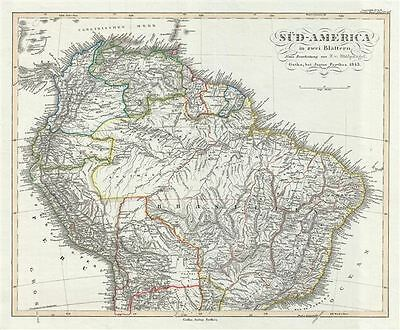 1850 Perthes Map of the Northern South America