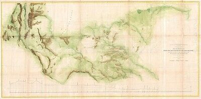 1861 Jefferson Davis and John Pope Map of Texas:  Red River to the Rio Grande