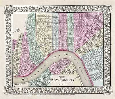 1867 Mitchell Plan or Map of New Orleans, Louisiana