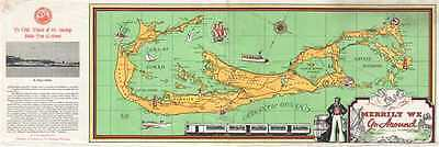 1937 Chamber of Commerce Pictorial Map of Bermuda