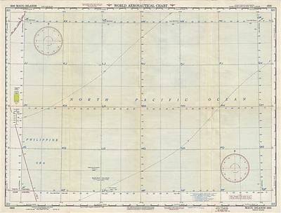 1951 U.S. Air Force Aeronautical Chart or Map of Maug Islands, Mariana Islands,