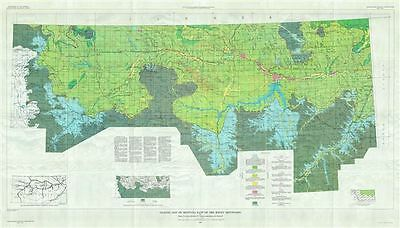 1961 U.S.G.S. Glacial Map of Montana, East of the Rocky Mountains
