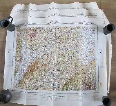 VINTAGE LOT OF 4 PRE WW2 SECOND WAR LINING BACKED MAPS WAR OFFICE 1930s 40s