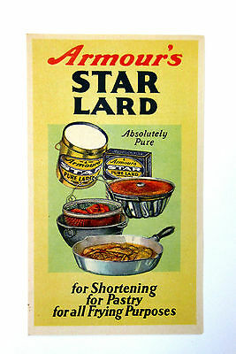 Vintage ~ 1930's ~ ARMOUR'S Star Lard Brochure Recipes Cookbook ~ RARE