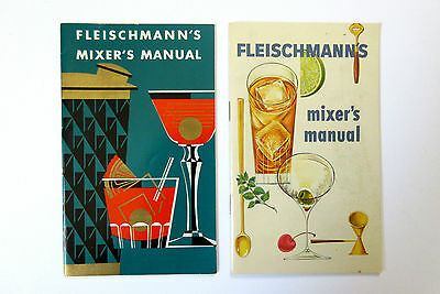 Lot 2 ~ Fleischmann's Mixer Manual Cocktail Book ~ Bartending Guide Recipes Nice