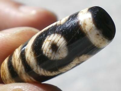 FINE EXCEPTIONAL ANCIENT BANDED AGATA DZI BEAD FROM HIMMALAYA!! 200 Years Old