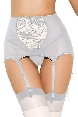 Crossdresser Sissy  Plus Size High-waisted Lace Hollow-out Garter Belt Size 5X