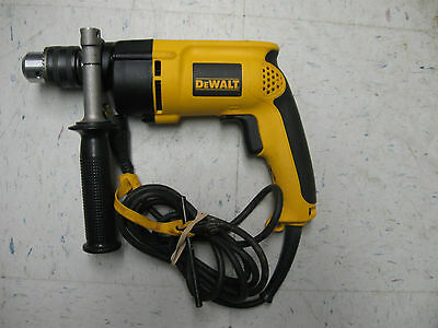 "Dewalt Dw511 1/2"" Keyed Chuck Variable Speed Reversible Hammer Drill 7.8 Amps"