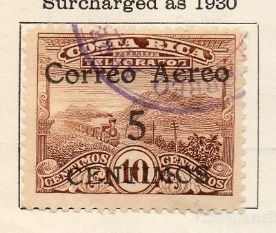 Costa Rica 1930 Issue Fine Used 5c. Optd Surcharged 140891