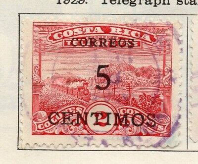 Costa Rica 1930 Issue Fine Used 5c. Surcharged 140884