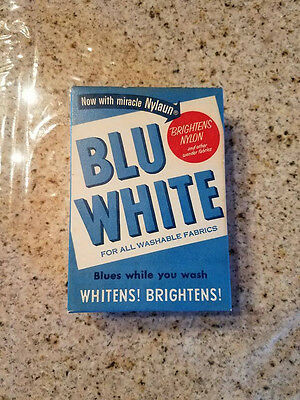 RARE!!  Early 50s ANTIQUE UNOPENED BLU WHITE LAUNDRY SOAP  Excellent condition!