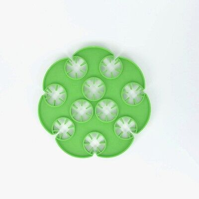 Garden Cane Grip Holder Holds 10 Canes Green Plastic - Package Of 50