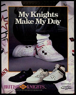 1987 British Knights 3 shoe styles photo vintage print ad
