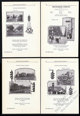 1927 Crouse-Hinds traffic signal stop light 6 model photo vintage trade print ad