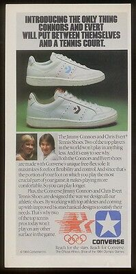 1984 Jimmy Connors Chris Evert photo Converse shoes ad