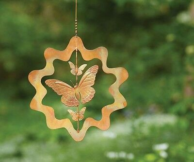 Ancient Graffiti Flamed Copper Sunburst Butterfly Flamed Ornament ANCIENTAG87079