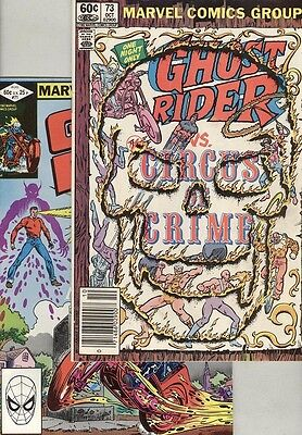 Ghost Rider #71 and #73 VG