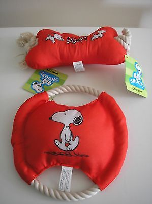 Peanuts Snoopy Dog Toy Set of 2 with Original Tags