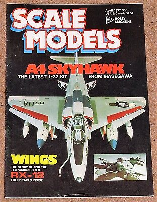 SCALE MODELS April 1977 - Porsche 935, A4 Skyhawk, JU87 Stuka, Secret RX12