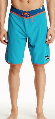 New with Tag - Quiksilver Loc Scallop Aqua Blue Board Shorts Size 30