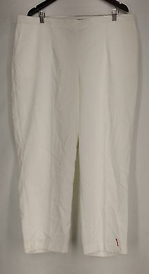 Alfred Dunner Plus Size Pants 22W Stretch Waist Corduroy White NEW