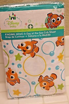 Disney FINDING NEMO Fitted Crib or Toddler Sheet A Day At The Sea