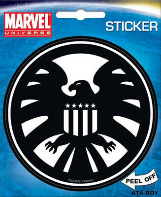 Marvel Comics Agents of S.H.I.E.L.D Eagle Logo Peel Off Sticker Decal NEW SEALED