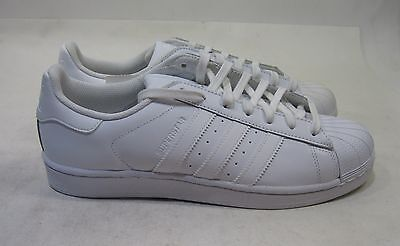the best attitude c6886 744c1 ADIDAS SUPERSTAR FOUNDATION Mens B27136 White Leather Shell Toe Shoes Size  9.5