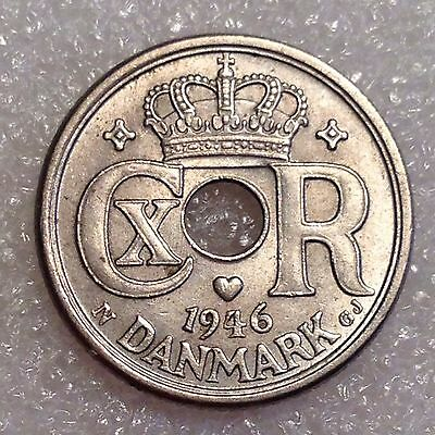 Denmark 10 Ore 1946 N; GJ Nice Coin! Low Mintage!