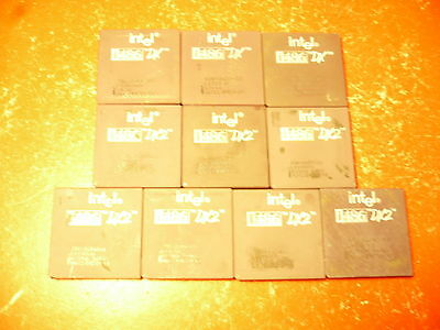 Lot of 10Pcs Intel 486Dx2-66/DX Ceramic CPUs Hig hGrade Gold for Scrap Recovery
