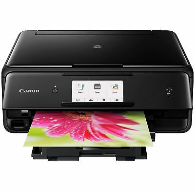 Canon Pixma TS8050 All in One Wireless WiFi Bluetooth Home Printer - Black