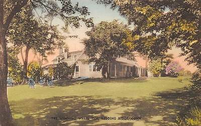REDDING RIDGE, CT, SPINNING WHEEL INN ADV PC, COLLOTYPE PUB, c. 1930-1940's