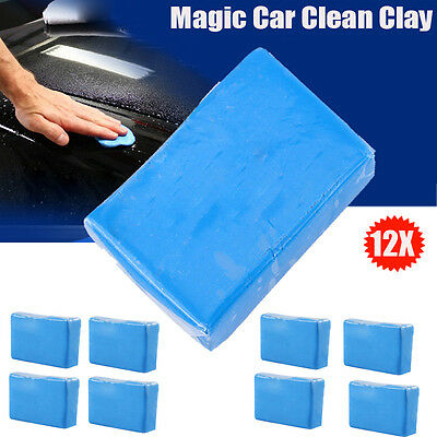 12Pcs Detailing Cleaning Bar Magic Car Truck Clean Clay Sludge Mud Remove Wash