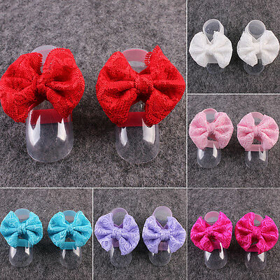 6 Colors Baby Girl Kid Lace Flower Barefoot Sandals Shoes Headband Foot Band
